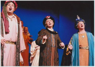 Barry (middle) plays a wise man following a star in a local production of Rock Nativity.